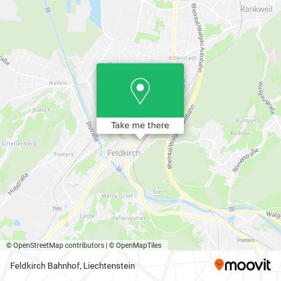 Feldkirch Bahnhof map