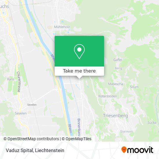 Vaduz Spital map