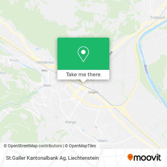 St.Galler Kantonalbank Ag map