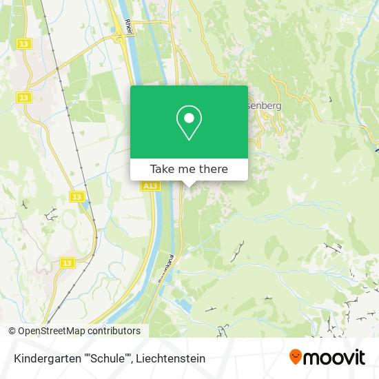 """Kindergarten """"""""Schule"""""""" map"""