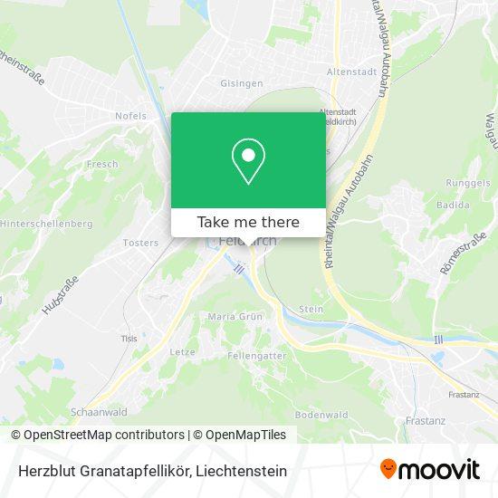 Herzblut Granatapfellikör map