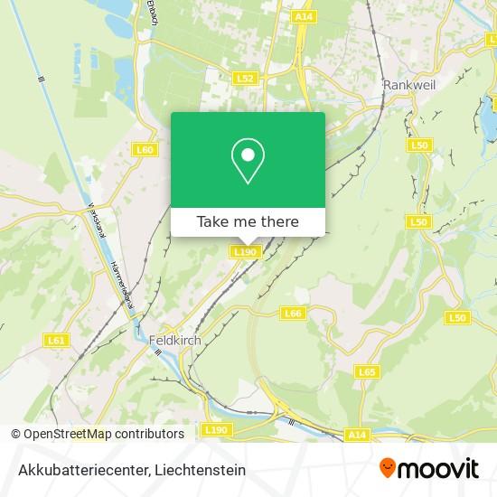 Akkubatteriecenter map