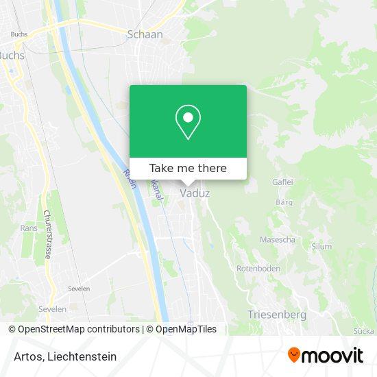 Artos map