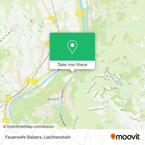 Feuerwehr Balzers map