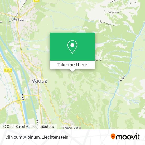 Clinicum Alpinum map