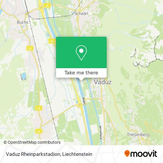 Vaduz Rheinparkstadion map