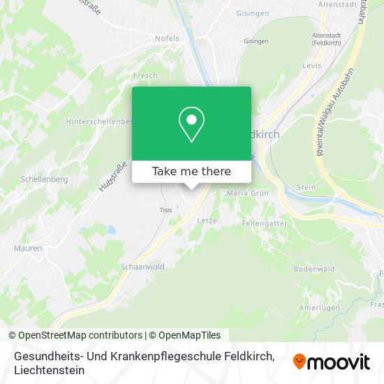 Gesundheits- Und Krankenpflegeschule Feldkirch map