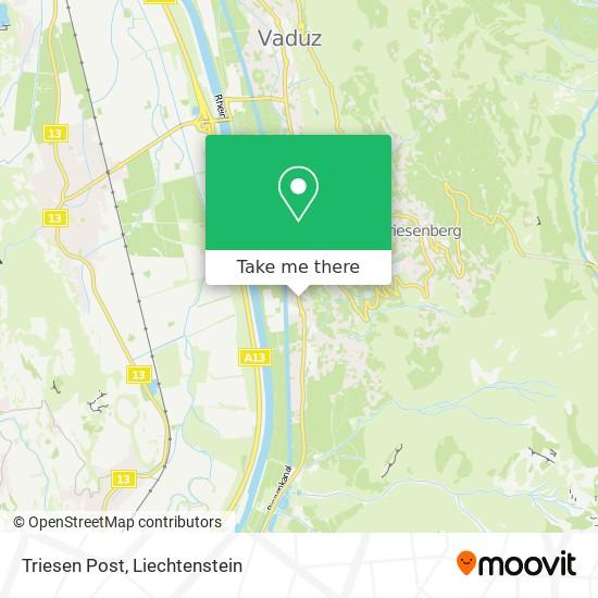 Triesen Post map