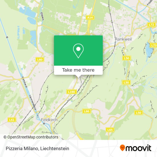 Pizzeria Milano map