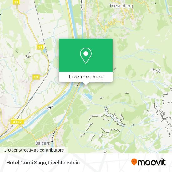 Hotel Garni Säga map