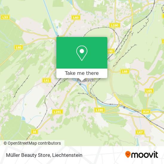 Müller Beauty Store map
