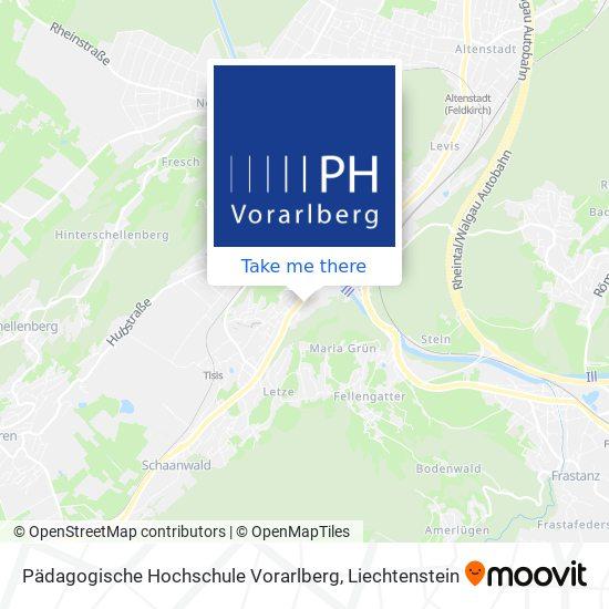Pädagogische Hochschule Vorarlberg map