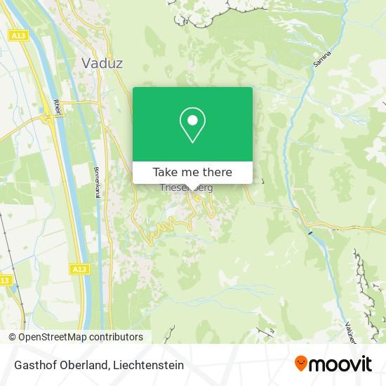 Gasthof Oberland map