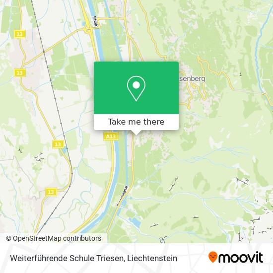 Weiterführende Schule Triesen map