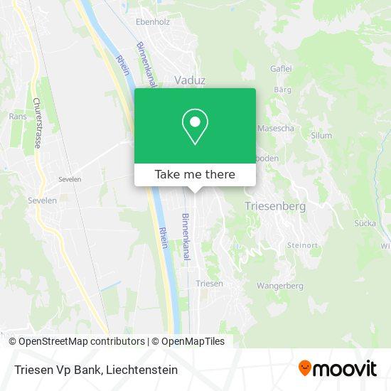 Triesen Vp Bank map