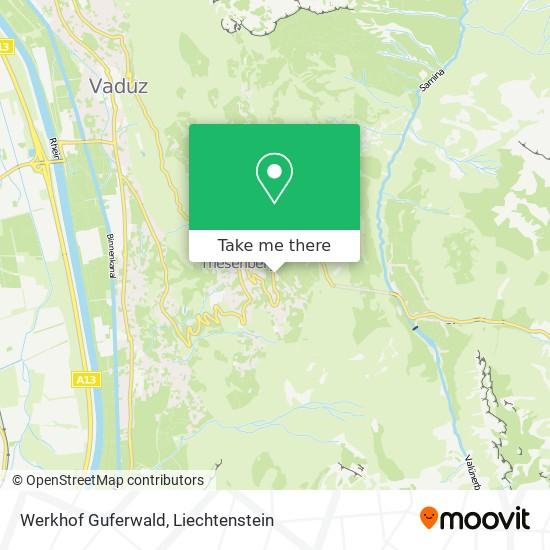 Werkhof Guferwald map