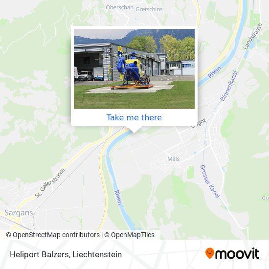 Heliport Balzers map