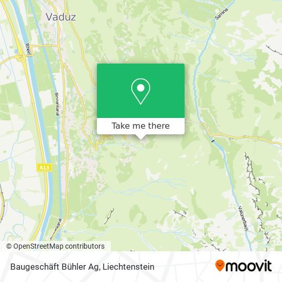 Baugeschäft Bühler Ag map
