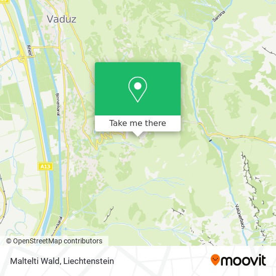Maltelti Wald map