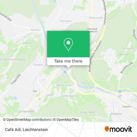 Café Adi map