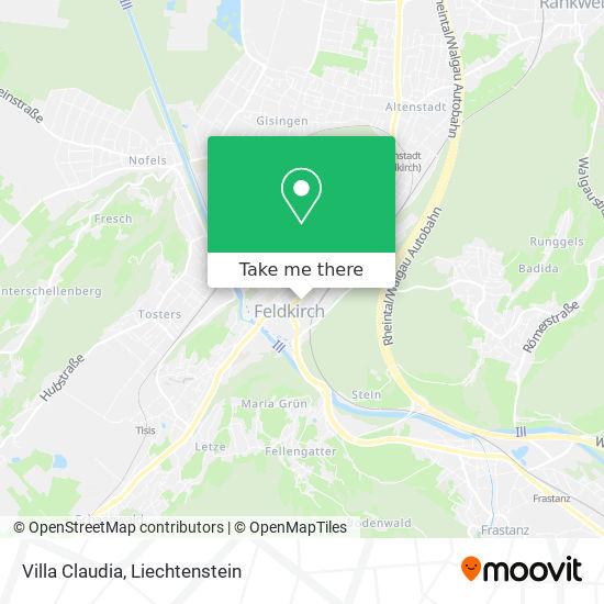 Villa Claudia map