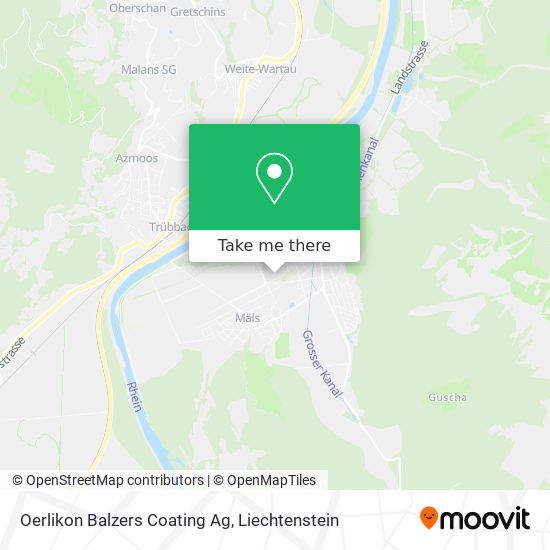 Oerlikon Balzers Coating Ag map