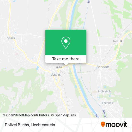 Polizei Buchs map