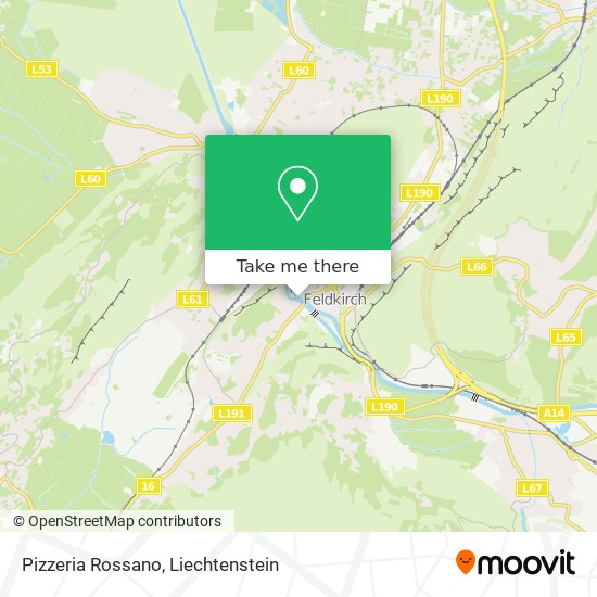 Pizzeria Rossano map
