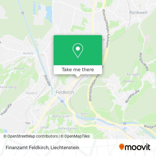 Finanzamt Feldkirch map