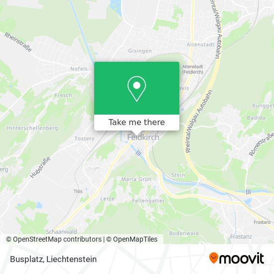 Busplatz map