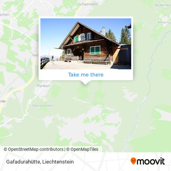 Gafadurahütte map