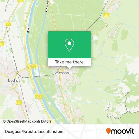 Duxgass/Kresta map