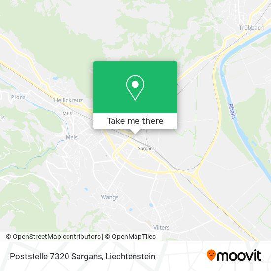 Poststelle 7320 Sargans map