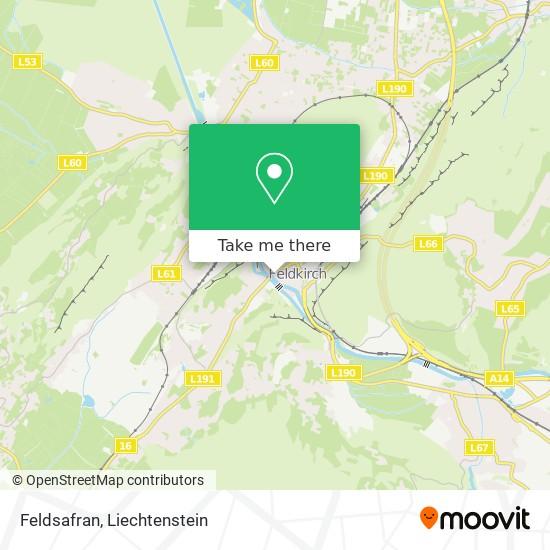Feldsafran map
