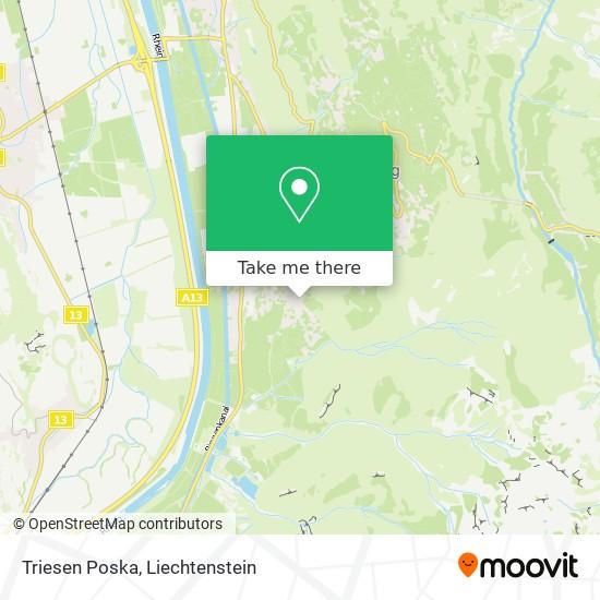 Triesen Poska map