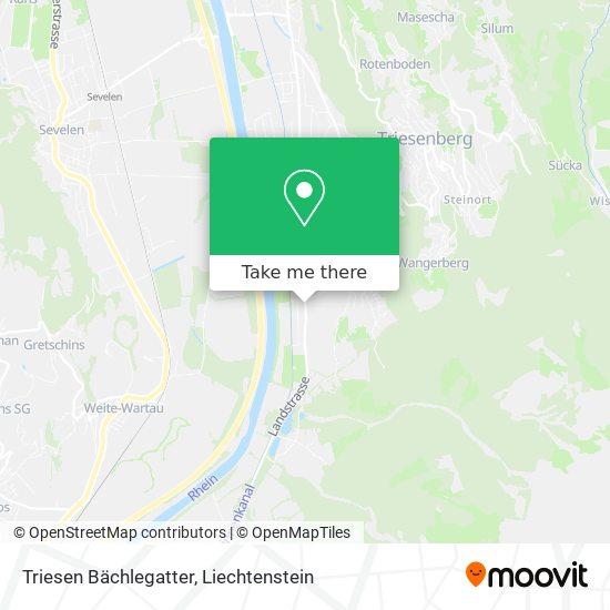 Triesen Bächlegatter map