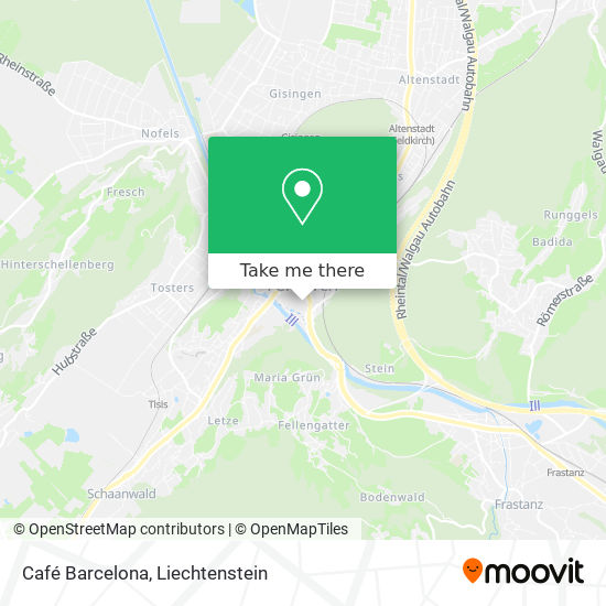 Café Barcelona map