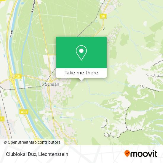 Clublokal Dux map