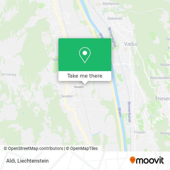 Aldi Sevelen map