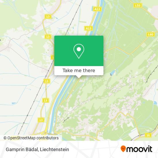 Gamprin Bädal map