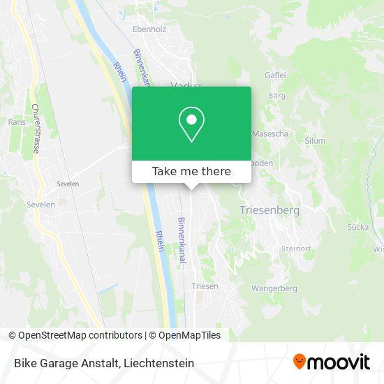 Bike Garage Anstalt map