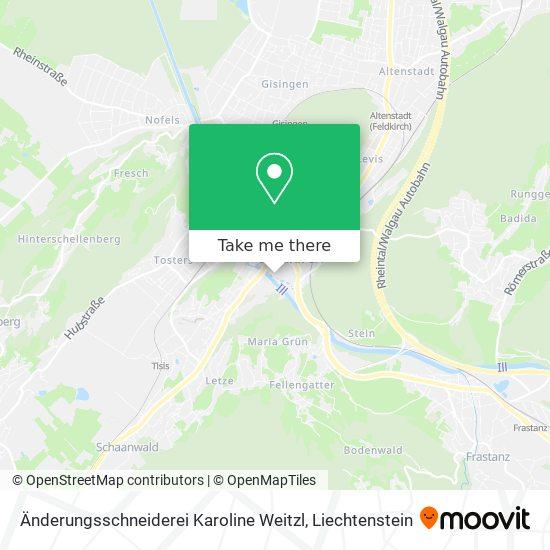 Änderungsschneiderei Karoline Weitzl map