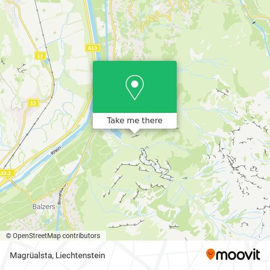Magrüalsta map