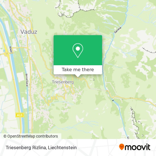 Triesenberg Rizlina map