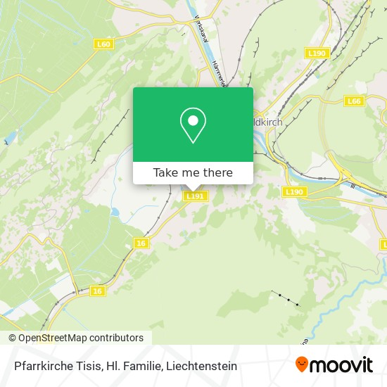 Pfarrkirche Tisis, Hl. Familie map
