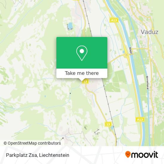 Parkplatz Zsa map