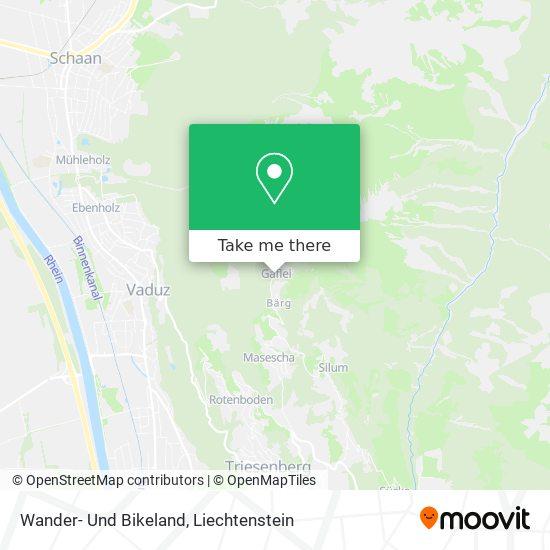 Wander- Und Bikeland map