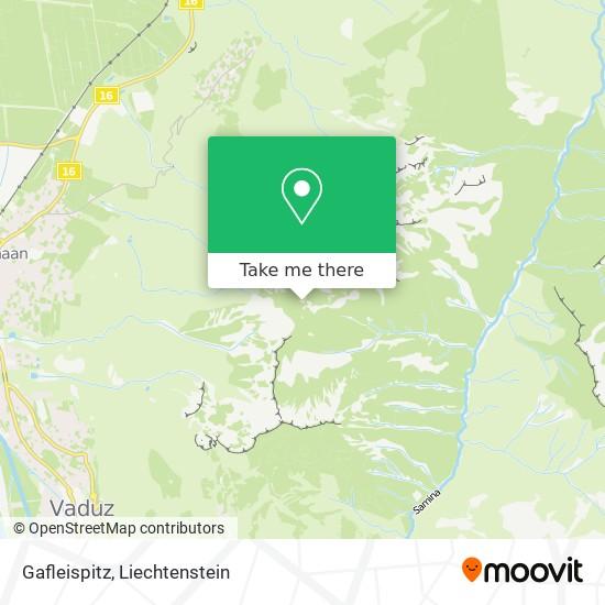 Gafleispitz map