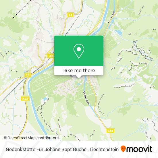 Gedenkstätte Für Johann Bapt Büchel map