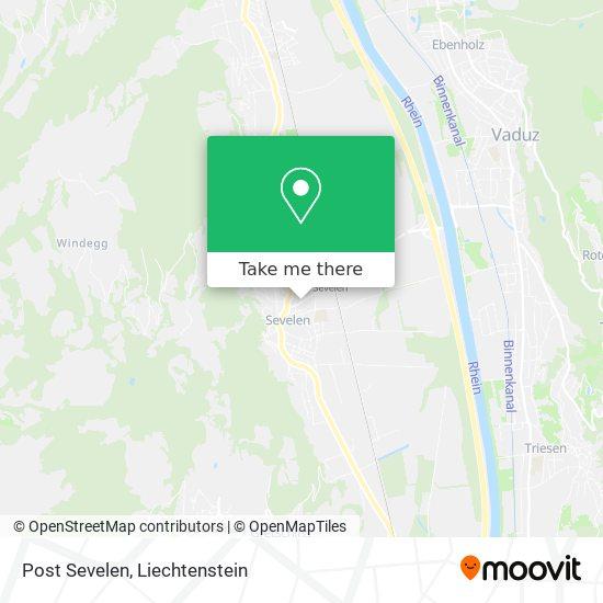 Post Sevelen map